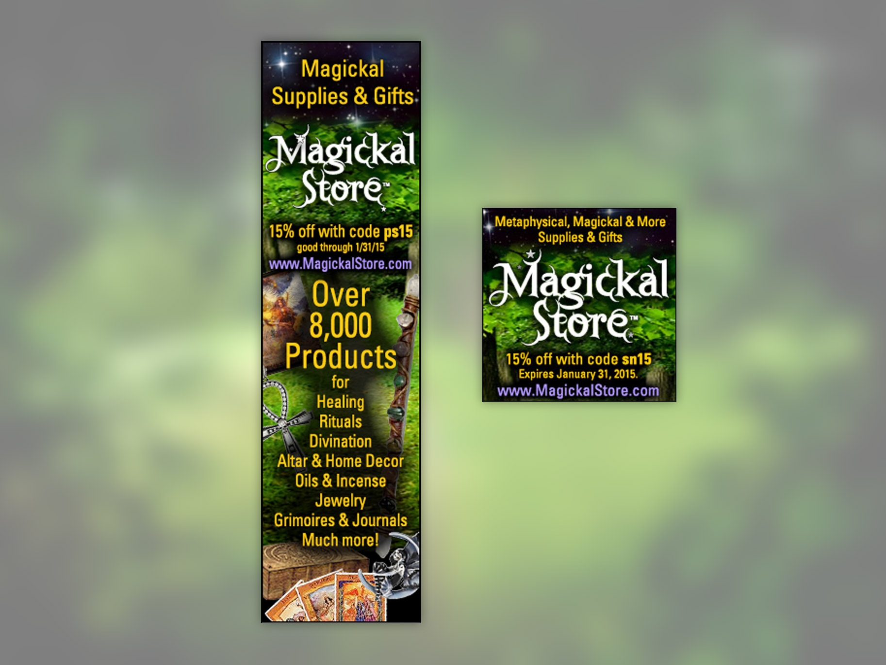Magickal Store Internet Ads