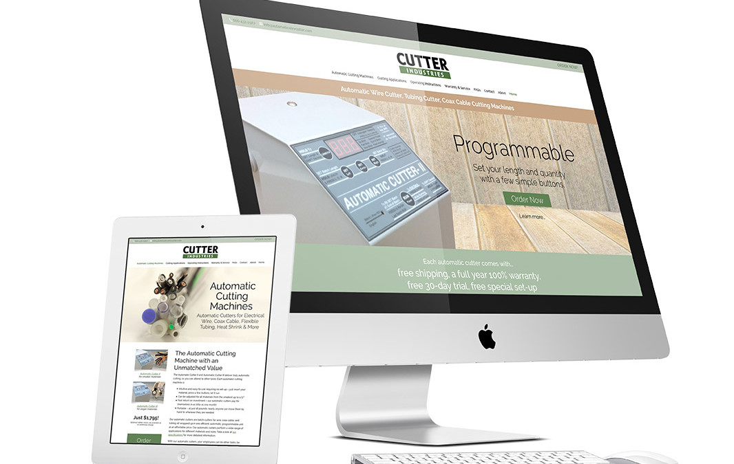 Cutter Industries Website Design